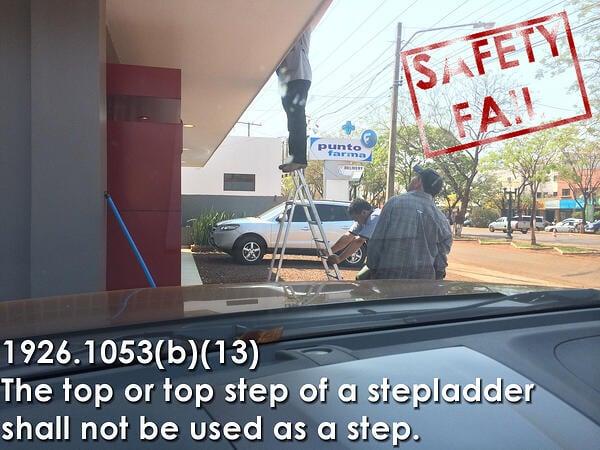 Step Ladder Safety Fail