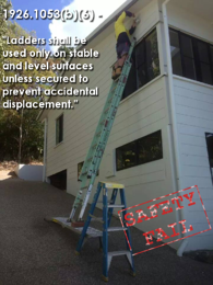 Step Ladder Safety Fail - Use only on stable surfaces
