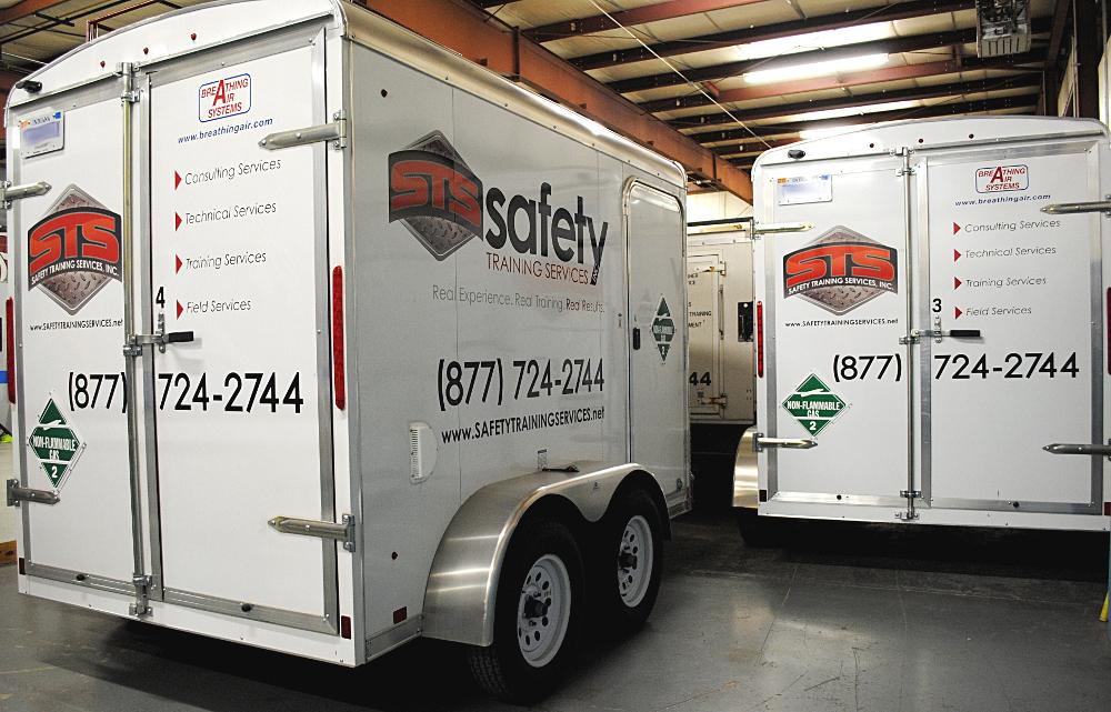 Supplied air trailers