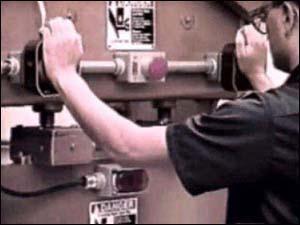 machine guarding, two-hand control, osha 10, construction safety