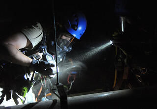 Confined space rescue training