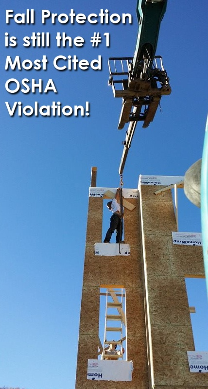 Fall protection is still the most cited OSHA safety violation